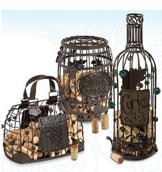 Cork Cages in numerous styles. Stop by and pick up this great find at CardSmart in Houston, TX. 77025 (713-669-9711)