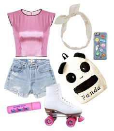"""PB Rollerskating outfit"" by kgrace1801 on Polyvore featuring RE/DONE, Carole, adventuretime and PrincessBubblegum"
