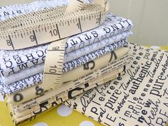 LOVE these fabrics & ribbon posted on Red Pepper Quilts!