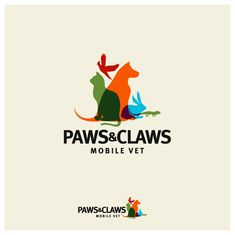 Paws & Claws Mobile Vet - Help Paws & Claws Mobile Vet with a new logo Logo Branding, Branding Design, Logo Animal, Mobile Vet, Nouveau Logo, Resort Logo, Farm Logo, Paws And Claws, Dog Logo