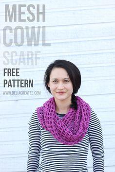 Mesh Cowl scarf - crochet pattern