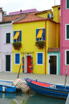 Colours in Burano, Venice, Italy
