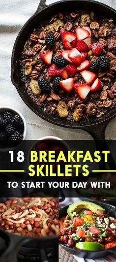 18 Easy And Delicious One-Pan Breakfast Skillet Recipes Round Up Breakfast Skillet, Savory Breakfast, Breakfast Dishes, Breakfast Time, Breakfast Recipes, Camping Breakfast, Breakfast Options, Breakfast Smoothies, Perfect Breakfast