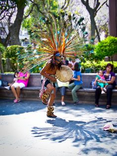 Tribute to the Gods, Aztec dancer in Aguascalientes, Mexico, by Belhor, via Flickr