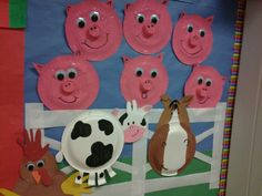 Farm animals out of paper plates! :) Kids had fun makin them!