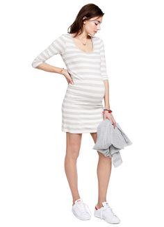 The 3/4 BODY Dress | maternity dress | fitted dress | day dress | maternity basics #HATCH
