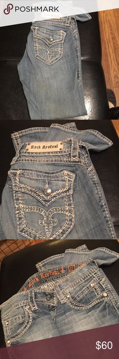 Rock revival jeans Rock revival jeans size 27 - Scarlett boot- from buckle - smoke free home Rock Revival Jeans Boot Cut