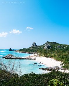 Tropical Japan's beautiful coastline, Izena Island, Okinawa, Japan