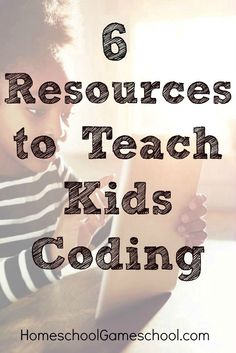 6 coding for kids resources Kids Computer, Computer Coding, Computer Science, Computer Tips, Stem Activities, Learning Activities, Teaching Kids To Code, Alternative Education, Teaching Technology