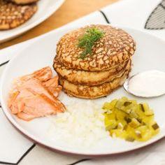 Blinit Salmon Burgers, Ethnic Recipes, Food, Essen, Meals, Yemek, Eten