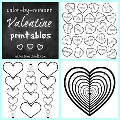 Valentine Color-by-Number Pages for the Kids! #coloringpages #freeprintable #valentinesday