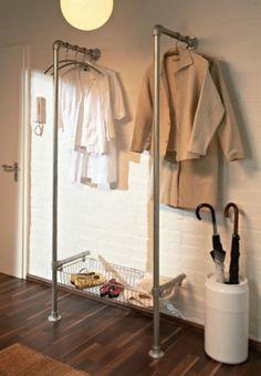 outra forma de pendurar roupa e calsado