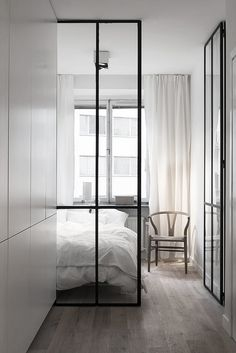 black coated steel door for the bedroom...  Bedroom / Fantastic Frank