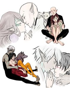 Fenris/Hawke and Lavellan/Solas by Purple-Meow on DeviantArt