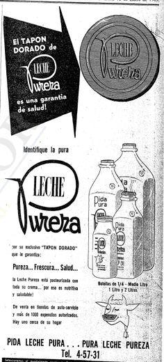 1965 - Leche la Pureza - Anuncio publicado en el Informador Guadalajara, Jalisco México