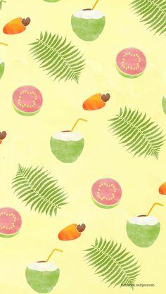 Exotic fruit pattern on Behance