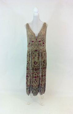 1920s Glass Beaded Silk Dress - if only I still had the figure to wear this!