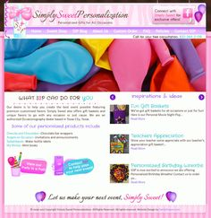 Candy Crayon created a website for sweetpersonalization.com in the past and now Tiffany's business and services are expanding so we gave her site a makeover! http://sweetpersonalization.com/
