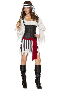 Pirate Mistress Costume, Sexy Pirate Costume