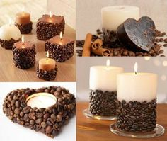 Coffee-Bean-Candle-Holders - Your coffee bean candle holder is ready to throw a magic of aromatic candle never sense before. best #candle #making