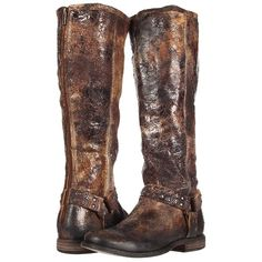 The refined yet rugged style of the Frye® Phillip Studded Harness Tall boot will have you riding the road and roaming the streets in fashionable comfort. Soft …