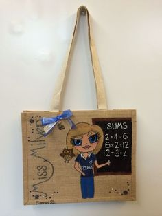 Personal details like a little owl or her favourite rugby jersey make these extra special, personalised jute bag Personalised Jute Bags, Jute Shopping Bags, Little Owl, Rugby, Reusable Tote Bags, Teacher, School, Amazing, Gifts