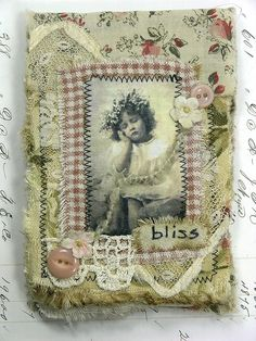 Fabric Collage Notebook - Gail of Shabby Cottage Studio