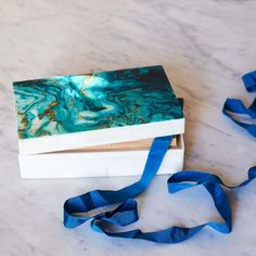 Featuring a stunning turquoise marble design, this is the perfect storage solution for your treasured jewellery and trinkets. Print Box, Marble Print, Turquoise Stone, Home Accessories, Green, Pattern, Handmade, Inspiration, Color
