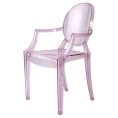 Alex Room for desk - Lucite Chair - Pink