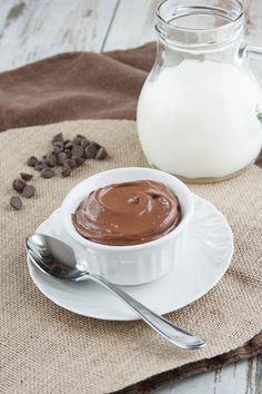 Tofu Chocolate Pudding - totally going to make this and slip it to my unsuspecting husband.