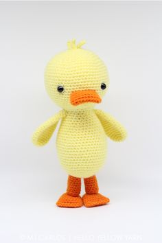 Quigley the Duck Crochet Amigurumi Pattern - https://www.etsy.com/au/listing/518732750/crochet-amigurumi-duck-pattern-only?ref=shop_home_active_1