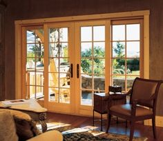 Sliding french doors...I wonder if I can expand the space around my slider to accommodate this?