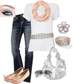 """""""Soft Pinks"""" by callico32 on Polyvore"""
