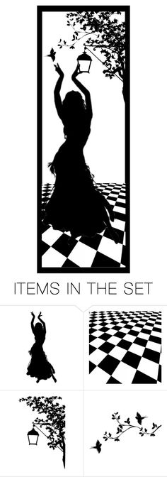 """""""Silhouette Bookmark"""" by louvillia ❤ liked on Polyvore featuring art"""