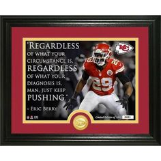 "Eric Berry ""Quote"" Bronze Coin Photo Mint -"