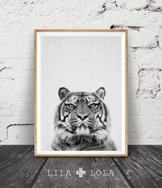 Tiger Print Nursery Animal Wall Art Kids Room by LILAxLOLA on Etsy