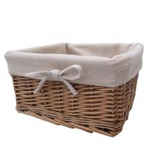 Buy Wicker Storage Basket Square Lined online from The Basket Company