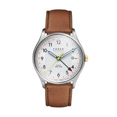 Farer Watch - Barnato - Silver GMT + Date - 39.5mm Case