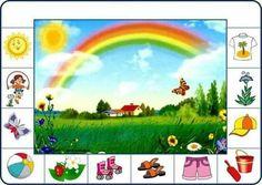 Cherche et trouve 1 Play School Activities, Seasons Activities, Speech Activities, Montessori Activities, Learning Cards, Kids Learning, Preschool Classroom, Kindergarten, Weather For Kids