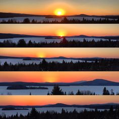 Rangeley Lake Overlook at Sunset (in stages)