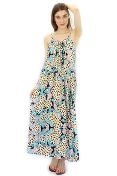 Maxi Dress Circus Nuance in Flowers and Leopard print $59.99