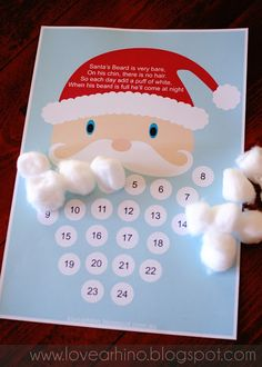 A twist to the Christmas Advent Calendar- great idea from Love a Rhino