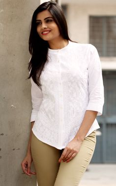 all time favourite - #white #chikankari #top, available at #Fabindia
