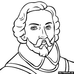 100% free coloring page of Juan Rodriguez Cabrillo. Color in this picture of Juan Rodriguez Cabrillo and share it with others today!