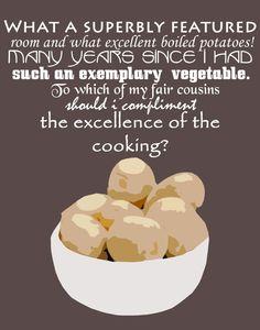 pick your color Jane Austen novel quote, Pride and Prejudice, MR collins Art Print, quotes, words text font 11 x 14 elizabeth bennet