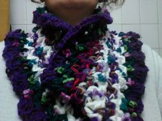 Unique Scarf Crocheted scarf with little by CristinaMyCrochet