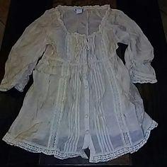 Beige Long Sleeve Button Down Top Beige long sleeve button down top. Charlotte Russe Tops Button Down Shirts
