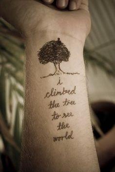 climbed the tree #ink #tattoo