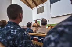 140218-N-XD424-005 PEARL HARBOR (Feb. 2, 2014) Master Chief Culinary Specialist Rory Bacon speaks at the chapel on Joint Base Pearl Harbor-Hickam during a Black History Month obversvance. (U.S. Navy photo by Mass Communication Specialist 2nd Class Dustin W. Sisco/Released)