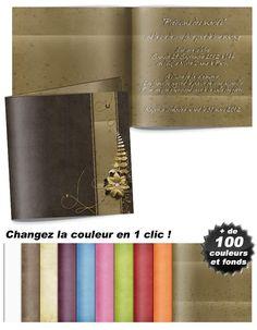 La fleur d'or , un modèle de faire-part mariage moderne et original Or, Wallet, Flowers, Purses, Diy Wallet, Purse